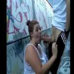 Gordinha pagando um boquete no túnel caiu na net