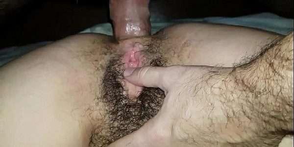 Anal com a esposa da buceta peluda